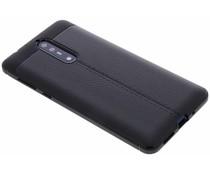 Schwarzes Leder Silikon-Case für das Nokia 8