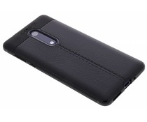 Schwarzes Leder Silikon-Case für das Nokia 5