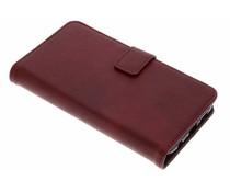 Luxus Booktype Hülle in Lederoptik Rot für Huawei P20 Lite