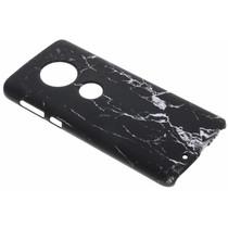 Marmor-Look Hardcase-Hülle Schwarz für das Motorola Moto G6