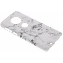 Marmor-Look Hardcase-Hülle Weiß für das Motorola Moto G6
