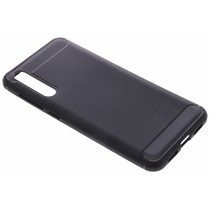 Schwarzer Brushed TPU Case Huawei P20 Pro