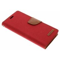 Mercury Goospery Rotes Canvas Diary Case für das Samsung Galaxy S9