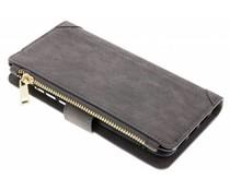 Graue Luxuriöse Portemonnaie-Hülle für das Huawei P20