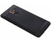Schwarzer Brushed TPU Case Nokia 7 Plus