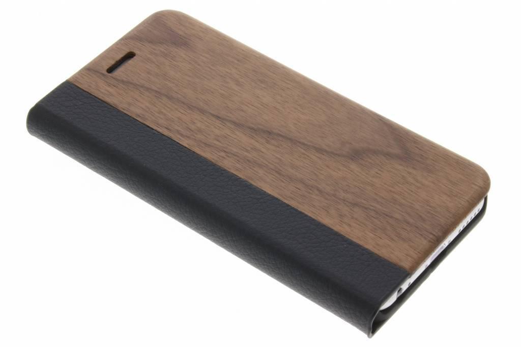 holz leder booktype h lle iphone 6 6s. Black Bedroom Furniture Sets. Home Design Ideas