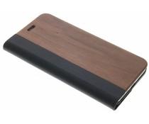 Holz-Leder Booktype Hülle iPhone 8 Plus / 7 Plus
