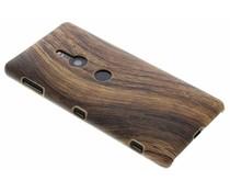 Holz-Design Hardcase-Hülle Dunkelbraun Sony Xperia XZ2