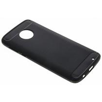 Schwarzer Brushed TPU Case Motorola Moto G6 Plus