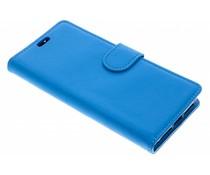 Litchi Booktype Hülle Blau für das Alcatel 3