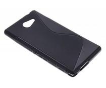 Schwarze S-Line TPU Hülle für Sony Xperia M2 (Aqua)