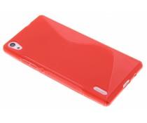 Rote S-Line TPU Hülle für Huawei Ascend P7