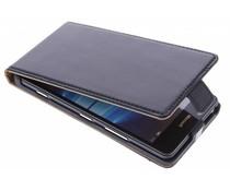 Schwarze Luxus Leder Booktype Hülle für Microsoft Lumia 950