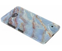 Blaues Marmor Design Hardcase Hülle für Microsoft Lumia 640