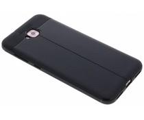 Schwarzer Leder Silikon-Case für das Asus ZenFone 4 Selfie