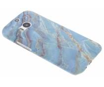 Marmor Design Hardcase Hülle Blau für HTC M8 / M8s