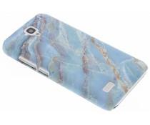 Marmor Design Hardcase Hülle Blau für Huawei Y5