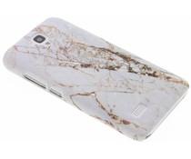 Marmor Design Hardcase Weiß für Huawei Y5