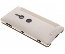 Nillkin Sparkle Slim Booktype Hülle Gold für das Sony Xperia XZ2