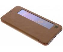 Nillkin Qin Leder-Case mit Fenster Braun Huawei P20 Pro