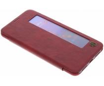 Nillkin Qin Leder-Case mit Fenster Rot Huawei P20 Pro