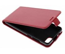 Rotes Leder TPU Flipcase für Wiko Tommy 3