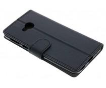 Business TPU Buchart Abdeckung Schwarz für das HTC U Play