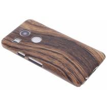 Holz-Design Hardcase-Hülle Dunkelbraun LG Nexus 5X