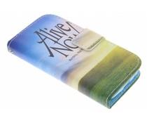 Design TPU Booktype Hülle für das Samsung Galaxy S4 mini