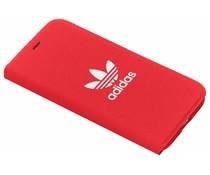 adidas Originals Adicolor Booklet Case Rot für das iPhone Xs / X
