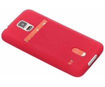 Card Case aus TPU-Silikon Fuchsia für Galaxy S5 (Plus) / Neo