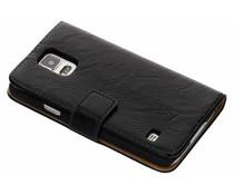 Knitterleder Booktype Hülle Schwarz für Samsung Galaxy S5 (Plus)/Neo