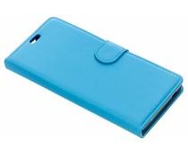 Litchi Buchtyp-Hülle Blau für das Lenny 4 Plus