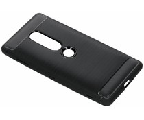 Brushed TPU Case Schwarz für das Sony Xperia XZ2 Premium