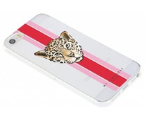My Jewellery Leopard Red Design Soft Case iPhone 5 / 5s / SE