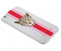 My Jewellery Leopard Red Design Soft Case iPhone 6 / 6s