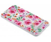 My Jewellery Pink Flowers Design Soft Case iPhone 6 / 6s