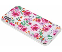 My Jewellery Pink Flowers Design Soft Case iPhone X