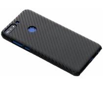 Carbon Look Hardcase-Hülle Schwarz für Huawei Y7 (2018)