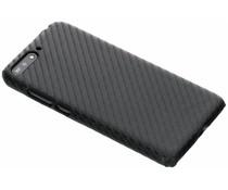 Carbon Look Hardcase-Hülle Huawei Y6 (2018)