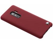 BMW Hard Case aus Silikon Rot für Samsung Galaxy S9 Plus