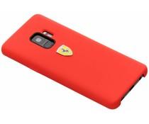 Ferrari Silikon-Case Rot für das Samsung Galaxy S9