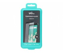 Wiko Tempered Glas Displayschutzfolie Schwarz für das View Max