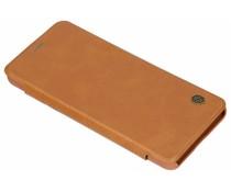Nillkin Qin Leather Slim Booktype Hülle Braun für das LG G7