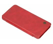 Nillkin Qin Leather Slim Booktype Hülle Rot für das LG G7