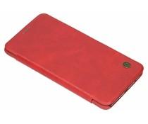 Nillkin Qin Leather Slim Booktype Hülle Rot für das OnePlus 6