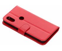 Luxus Leder Booktype Hülle Rot für Xiaomi Mi Mix 2s