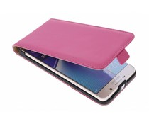 Selencia Luxus Flipcase Fuchsia für Samsung Galaxy Note 5