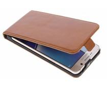 Selencia Luxus Leder Flipcase Braun für Samsung Galaxy Note 5