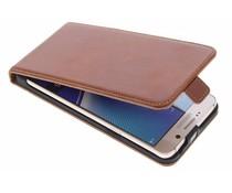 Selencia Luxus Leder Flipcase Dunkelbraun für Samsung Galaxy Note 5